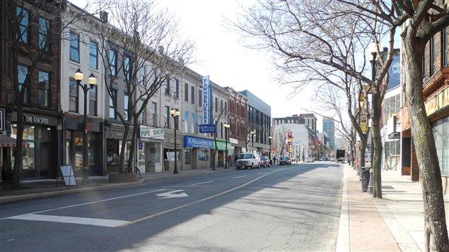 Le centre-ville de Hamilton.