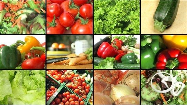 Des fruits et des légumes.