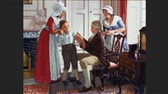 Peinture de Robert Thom illustrant l'introduction du vaccin par Edward Jenner. | Robert Thom/University of Michigan