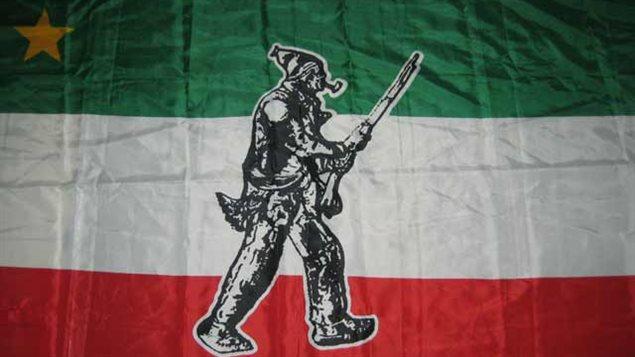 Variante de la bandera de los Patriotas.