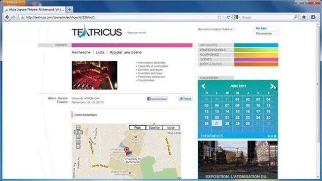 Une incursion sur le site web de Teatricus
