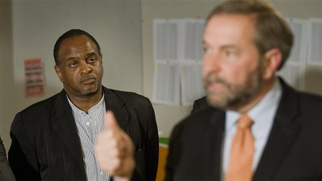 Tyrone Benskin et Thomas Mulcair.