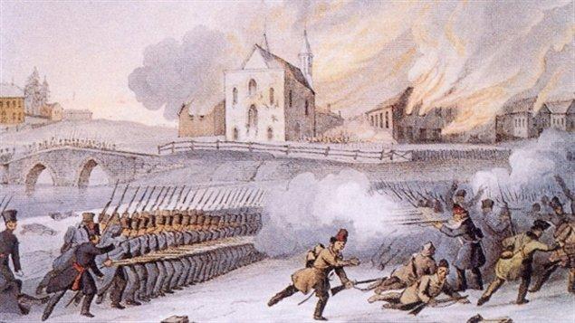 La bataille de Saint-Eustache, le 14 décembre 1837