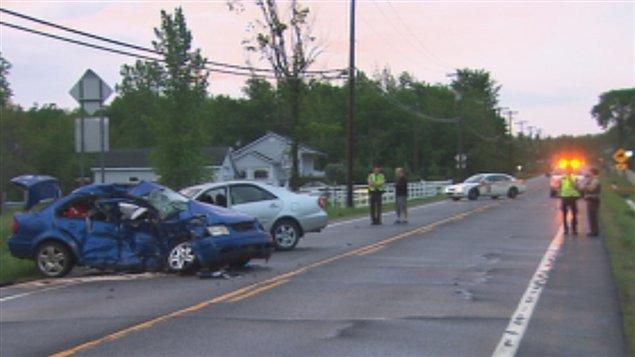 Un accident mortel s'est produit à Roxton Pond.