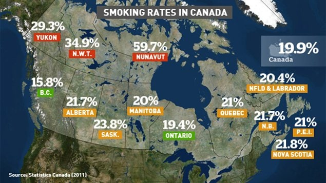 Smoking Tobacco Still A Leading Cause Of Death In Canada - Tobacco death us map