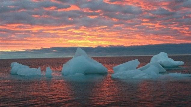 Iceberg dans l'Arctique de plus en plus acide