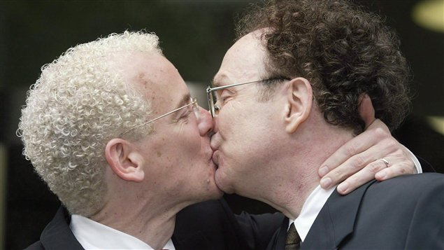 Gais embrasser des photos