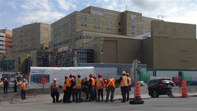 Le chantier du CUSM est évacué.