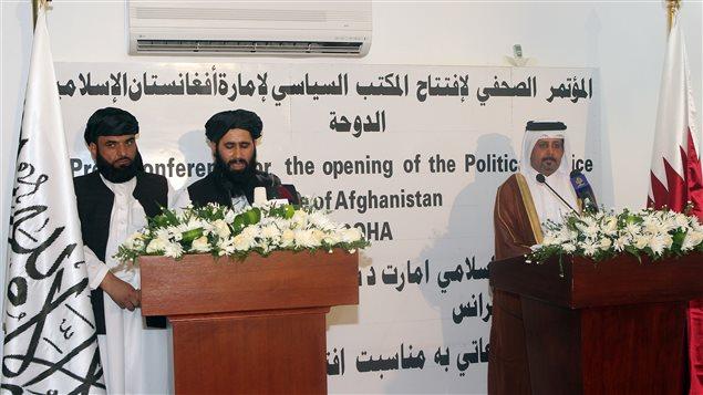 Les talibans ont ouvert mardi un bureau politique à DOHA AFP_130618_9z5b4_taliban-afghan-bureau_sn635
