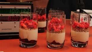 Panna cotta vanille, mascarpone et fraise