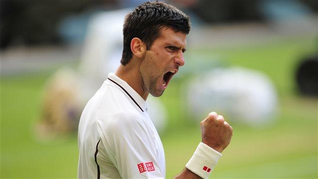 Le joueur de tennis Novak Djokovic.