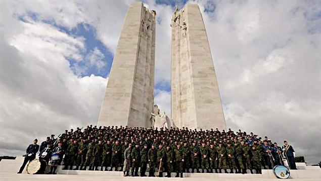 Le contingent de militaires canadiens qui ont participé à la Marche annuelle de Nimègue, aux Pays-Bas.
