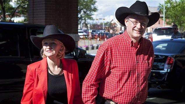 Le premier ministre Stephen Harper et sa femme Laureen en visite au Stampede de Calgary
