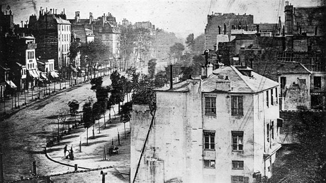 La photo 'Boulevard du temple' par Louis Daguerre