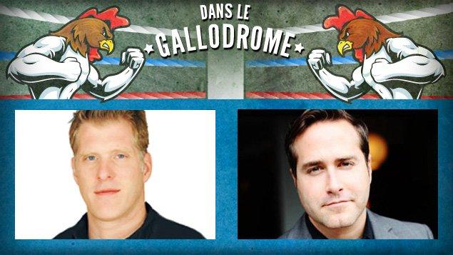 Fred Savard et Jean-Philippe Cipriani s'affrontent dans le gallodrome.