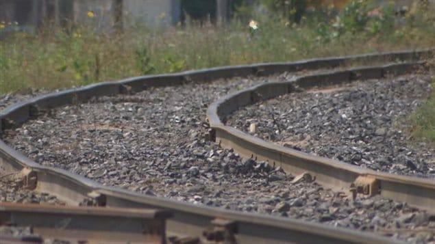 Un tronçon de la voie ferree de Farnahm