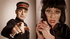 Patrice Coquereau et Diane Lavallée dans la comédie policière Les 39 marches.