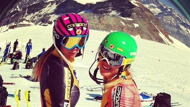 Marie-Michèle Gagnon et Marie-Pier Préfontaine en Suisse