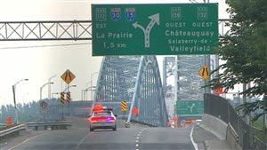 Entraves sur le pont Mercier (site externe Québec 511)