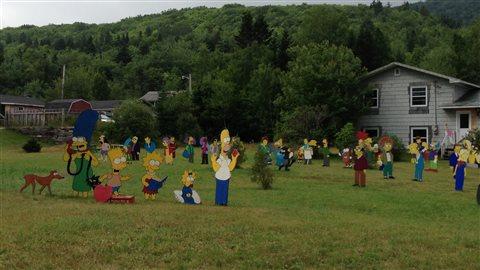 La pelouse des plus grands admirateurs des Simpsons à Orangedale
