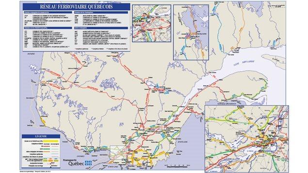 Réseau ferroviaire québécois