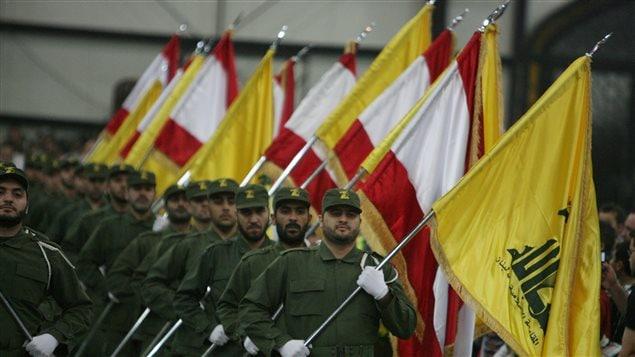 Des combattants du Hezbollah, lors d'un défilé organisé en 2009, à Beyrouth, à l'occasion du Jour des Martyrs.