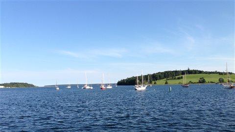 Le village de Lunenburg situé sur la côte est de la Nouvelle-Écosse.