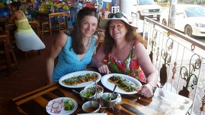 Avec ma mère, au Mexique.