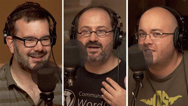 François Lemay, Alexandre Enkerli et Frédéric Harper © Radio-Canada/Sophie Laforest