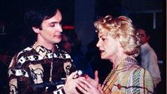 Photo d'archive: Claude Deschênes en entrevue avec Marjo.