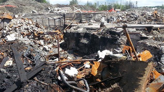 Les ruines du Musi-Cafe, à Lac-Mégantic