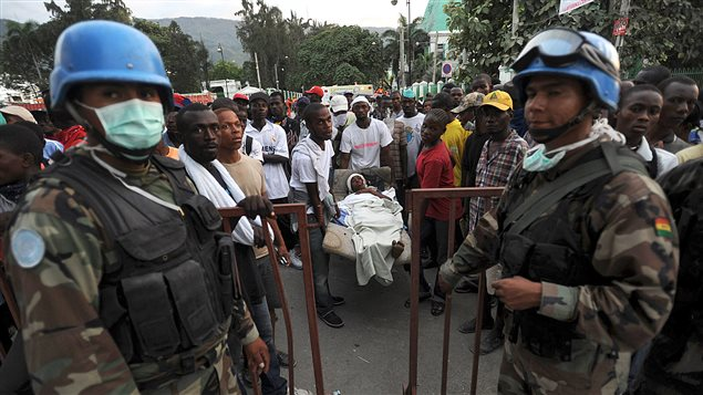 Des Casques bleus en Haïti