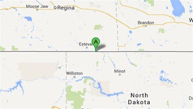 Le poste frontalier North Portal se trouve à la frontière entre la Saskatchewan et le Dakota du Nord.