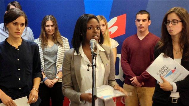Jeunes libéraux à leur congrès qui se tient à Saint-Auguistin-de-Desmaures