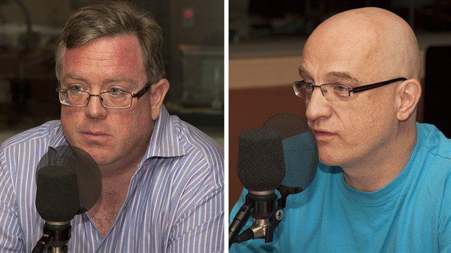 Michel Kelly-Gagnon et Alain Vadeboncoeur © Radio-Canada