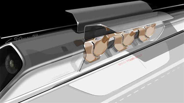 Le projet Hyperloop du milliardaire américain Elon Musk