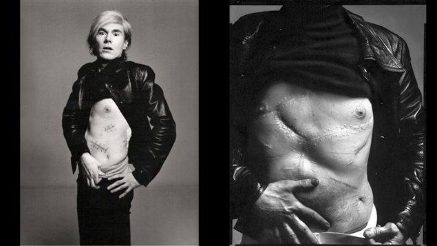 Les deux photographies d'Andy Warhol, 1969, par Richard Avedon | Source : iconolo.gy et Christie's