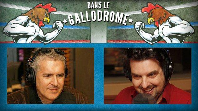 Stéphane Garneau et McGilles s'affrontent dans le gallodrome.