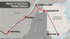 Le projet d'olédoduc de la compagnie TransCanada