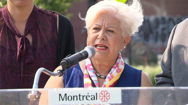 La chef de Vision Montréal, Louise Harel.