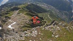 Base jump à Chamonix