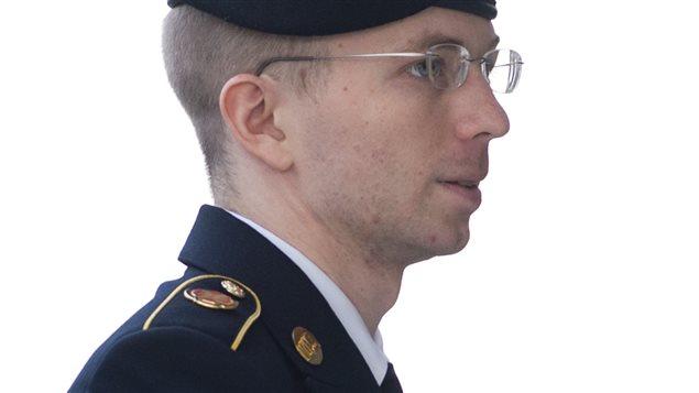 El soldado Braley Manning a su llegada al tribunal militar.