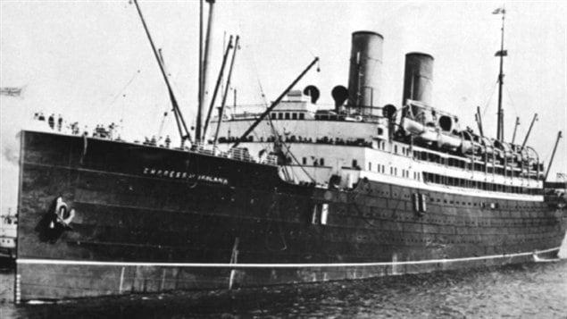 Le 29 mai 1914, à peine 465 des 1477 personnes à bord survécurent au naufrage de l'Impress of Ireland.