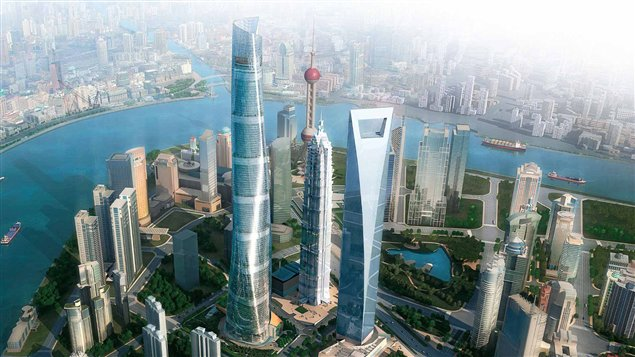 La Tour de Shanghai, encore en construction, est la deuxième plus haute au monde. Crédit: Gensler