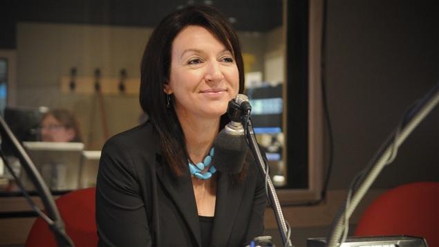 Nathalie Normandeau lors d'une entrevue avec Marie-France Bazzo