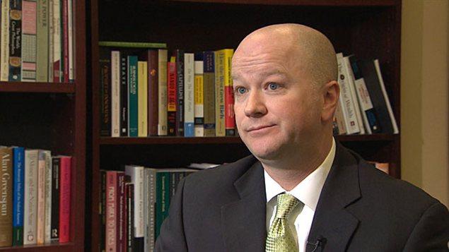 Jason Clemens, vice-président de l'Institut Fraser et coauteur d'une étude sur une réforme des lois sur les cotisations syndicales.