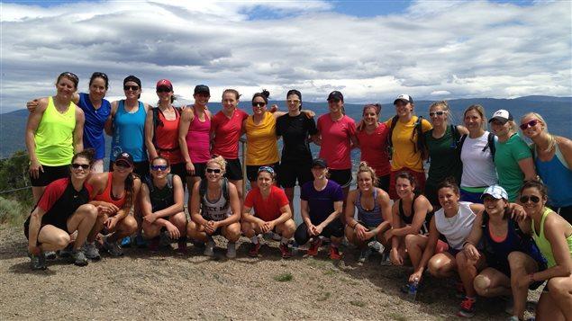 Caroline Ouellette et ses coéquipières réunies à un camp de conditionnement en mai dernier à Penticton en Colombie-Britannique.