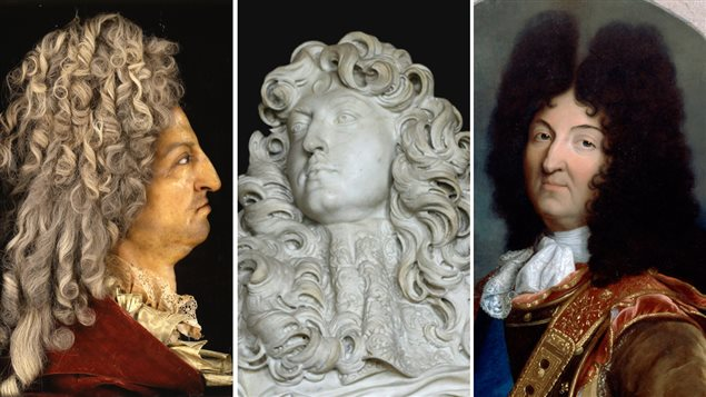 Louis XIV par Antoine Benoist, Le Bernin et Hyacinthe Rigaud