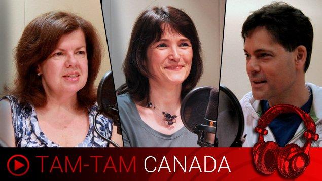 Les animateurs Maryse Jobin, Anne-Marie Yvon et Stéphane Parent.