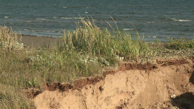 Erosion des berges aux Îles-de-la-Madeleine
